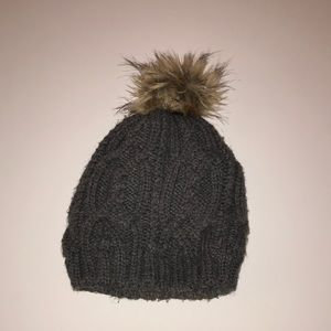 Charcoal grey winter hat